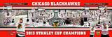 Chicago Blackhawks - Hossa, Seabrook, Keith, Toews, Sharp, Bickell, Crawford, Kane, Saad Panoramic  Photo