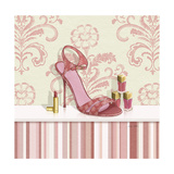 Coral Pink Shoe 1 Prints by Carolyn Fisk