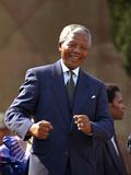 Nelson Mandela Fotografie-Druck von John Parkin