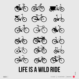 Life is a Wild Ride Poster I Art by  NaxArt