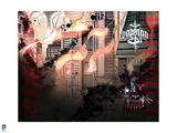 Batman: Batman - City on Fire, in Red and Black Prints