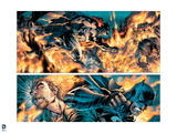Batman: Batman Panels - Fighting in Fire Poster