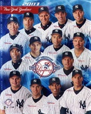 New York Yankees - Clemens, Jeter, Mondesi, Rivera, Williams, Mussina, Ventura, Zeile, Giambi, Posa Photo