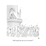 """And exactly how does one 'act contrite'"" - Cartoon Regular Giclee Print by Paul Noth"