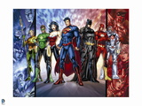 Justice League: Cyborg, Superman, Wonder Woman, Aquaman, Green Lantern, Batman and Flash Posters