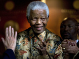 Nelson Mandela Photographic Print by Peter Dejong