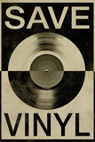 Save the Vinyl Music Poster Prints
