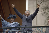 Nelson Mandela in France in 1990 Photographic Print by Christian Lutz