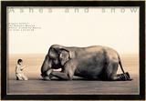 Garçon qui lie à un éléphant, Mexico city Poster par Gregory Colbert
