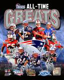 New England Patriots - Bledsoe, Brady, Vinatieri, Law, Bruschi, Grogan, Cappelletti, Welker, Morgan Photo