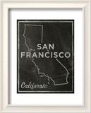 San Francisco, Kalifornien Poster von John W. Golden