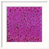 Untitled, June 1, 1984 Gerahmter Giclée-Druck von Keith Haring