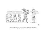 """Facebook will give you five billion dollars for that flute."" - Cartoon Regular Giclee Print by Paul Noth"