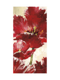 Jubilant Red Tulip Panel 2 Prints by Brent Heighton