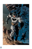 Batman: Batman Walking Powerfully, Bats Fly Behind Prints