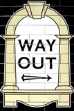 London Underground Way Out Sign RetroMetro Poster Print