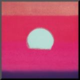 Sunset, c.1972 40/40 (fuchsia) Druck aufgezogen auf Holzplatte von Andy Warhol