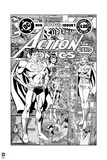 Superman: Superman's Action Comics Cover - the Big 500th Issue in Black and White Art