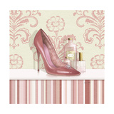 Coral Pink Shoe 2 Giclee Print by Carolyn Fisk