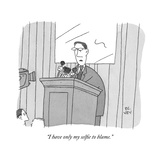 """I have only my selfie to blame."" - New Yorker Cartoon Premium Giclee Print by Peter C. Vey"