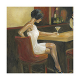 Woman in White 1 Print by Sandra Smith