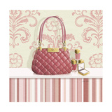 Coral Pink Purse 1 Prints by Carolyn Fisk