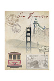 Travel San Francisco Giclee Print by Arnie Fisk