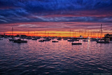 Colorful Sunset Newport Rhode Island Photo Poster Posters
