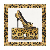 Leopard Shoe and Purse Giclee Print by Carolyn Fisk