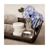 Hydrangea and Wicker Prints by Julie Greenwood