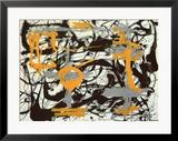 Gelb, Grau, Schwarz|Yellow, Grey, Black Poster von Jackson Pollock