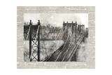 Newsprint City Bridge 2 Giclee Print by Ariane Roko