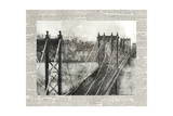 Newsprint City Bridge 2 Print by Ken Roko