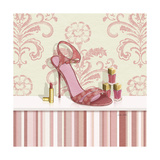 Coral Pink Shoe 1 Print by Carolyn Fisk