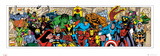 Marvel Comics Character Roster (Panoramic) Poster