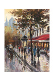 Avenue Des Champs-Elysees 1 Kunstdruck von Brent Heighton