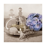 Hydrangea and Tray Poster von Julie Greenwood