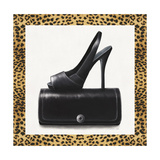 Black Shoe and Purse Giclee Print by Carolyn Fisk