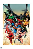 Justice League: The Justice League Charging, Posters