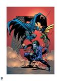 Batman: Batman and Robin Chasing Afer The Joker Art