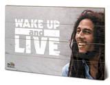Bob Marley - Wake Up & Live Znak drewniany