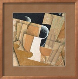 The Glass Framed Giclee Print by Juan Gris