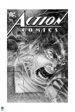 Superman: Action Comics with Superman No. 840: Superman Rage Yelling, in Black and White Prints