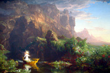 Thomas Cole The Voyage of LifeChildhood Poster Prints