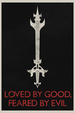 Loved By Good Feared By Evil Retro Poster Prints
