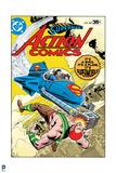 Superman: Superman's Action Comics Cover -It's a Bird, It's a Plane, It's Supermobile! Print