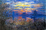 Claude Monet Sunset on the Seine Poster Posters