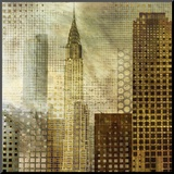 Chrysler Building Mounted Print by Katrina Craven