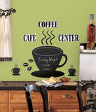 Coffee Cup Chalkboard Peel & Stick Wall Decals Autocollant