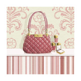 Coral Pink Purse 1 Print by Carolyn Fisk